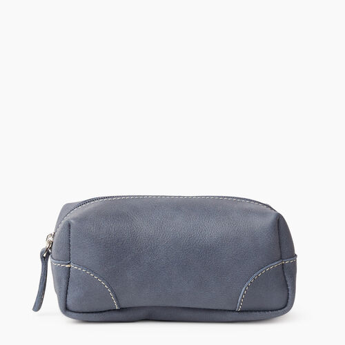 Roots-Leather New Arrivals-Small Banff Pouch Tribe-Navy-A
