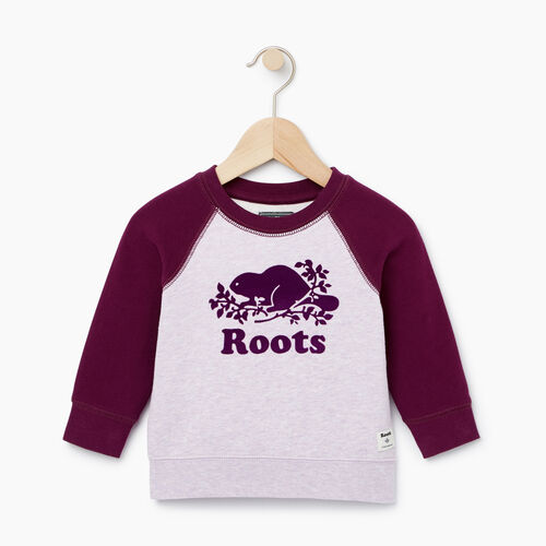 Roots-Sale Baby-Baby Original Crewneck Sweatshirt-Lupine Mix-A