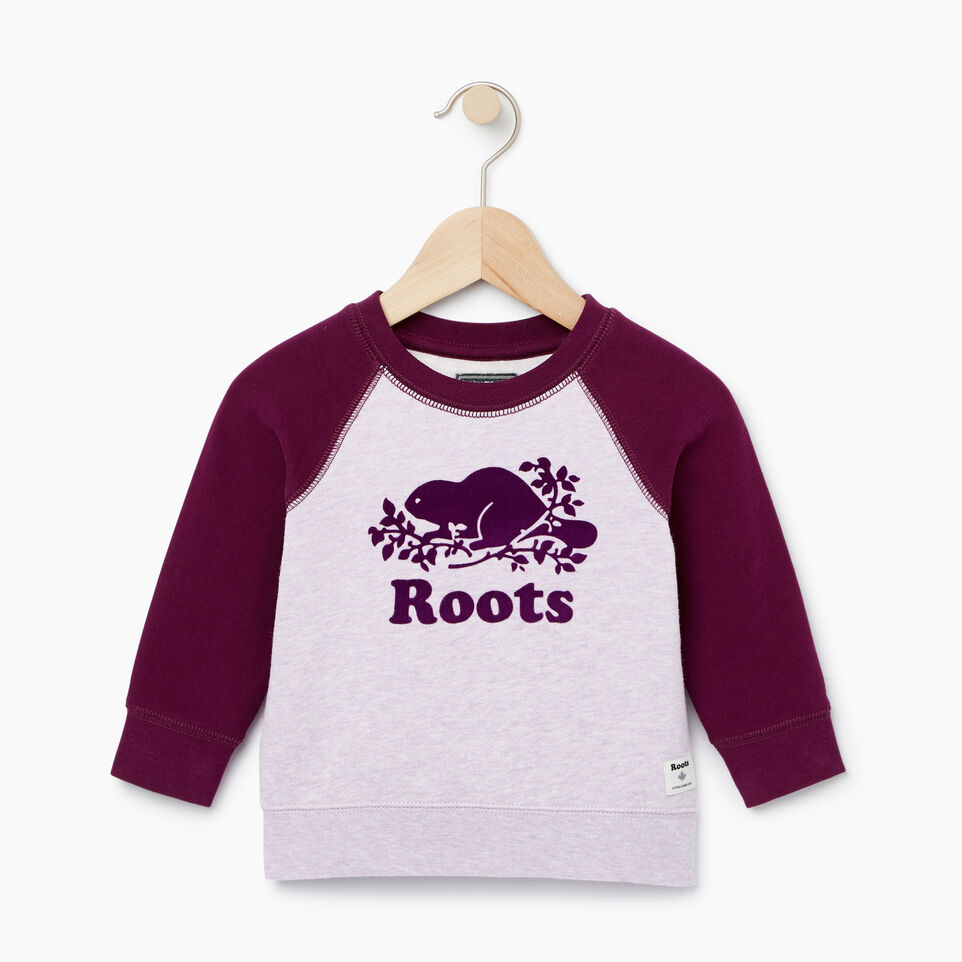 Roots-Sale Kids-Baby Original Crewneck Sweatshirt-Lupine Mix-A