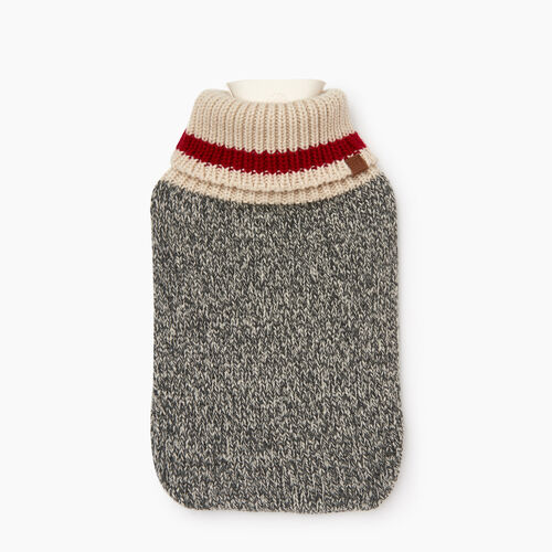 Roots-Men Our Favourite New Arrivals-Cabin Hot Water Bottle-Grey Oat Mix-A