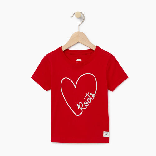 Roots-Kids Toddler Girls-Toddler Amore T-shirt-Racing Red-A