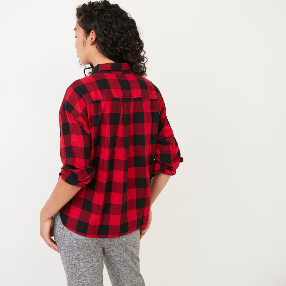 Roots-undefined-Box Cut Flannel Shirt-undefined-D