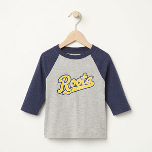 Roots-Kids Toddler Boys-Toddler Dorval Baseball Top-Grey Mix-A