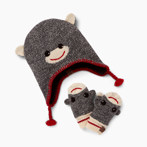 Roots-Winter Sale Toddler-Toddler Cabin Monkey Gift Set-Grey Oat Mix-A