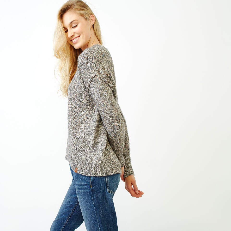 Roots-Women Sweaters & Cardigans-Moss Crew Sweater-Charcoal Mix-C