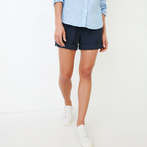 Roots-Women Shorts & Skirts-Sadie Short-Indigo-A