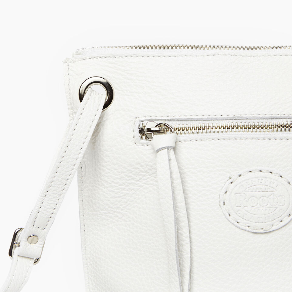 Roots-Leather  Handcrafted By Us Our Favourite New Arrivals-Festival Bag-White-E