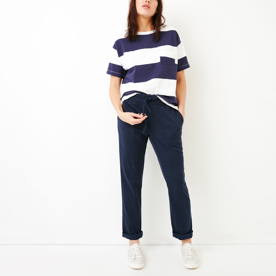 Roots-Women Categories-Essential Pant-Navy Blazer-B