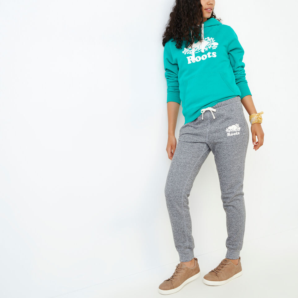 Roots-Sweats Sweatpants-Original Slim Cuff Sweatpant-Salt & Pepper-B