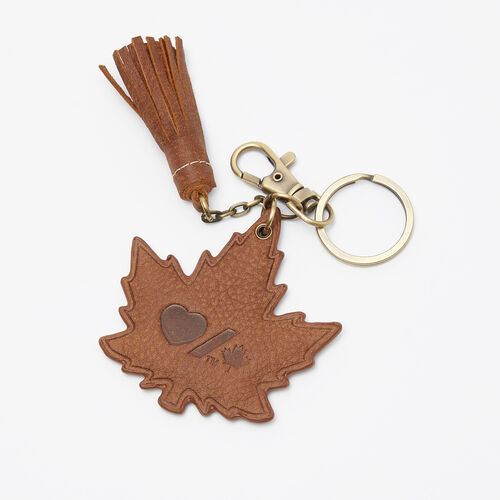Roots-Women Leather Accessories-Heart & Stroke Maple Keychain Tribe-Africa-A