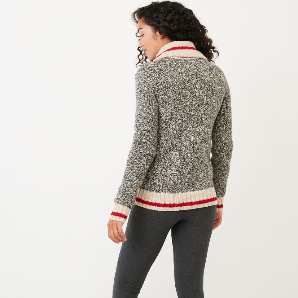 Roots-Women Categories-Roots Cabin Shawl Cardigan-Grey Oat Mix-D
