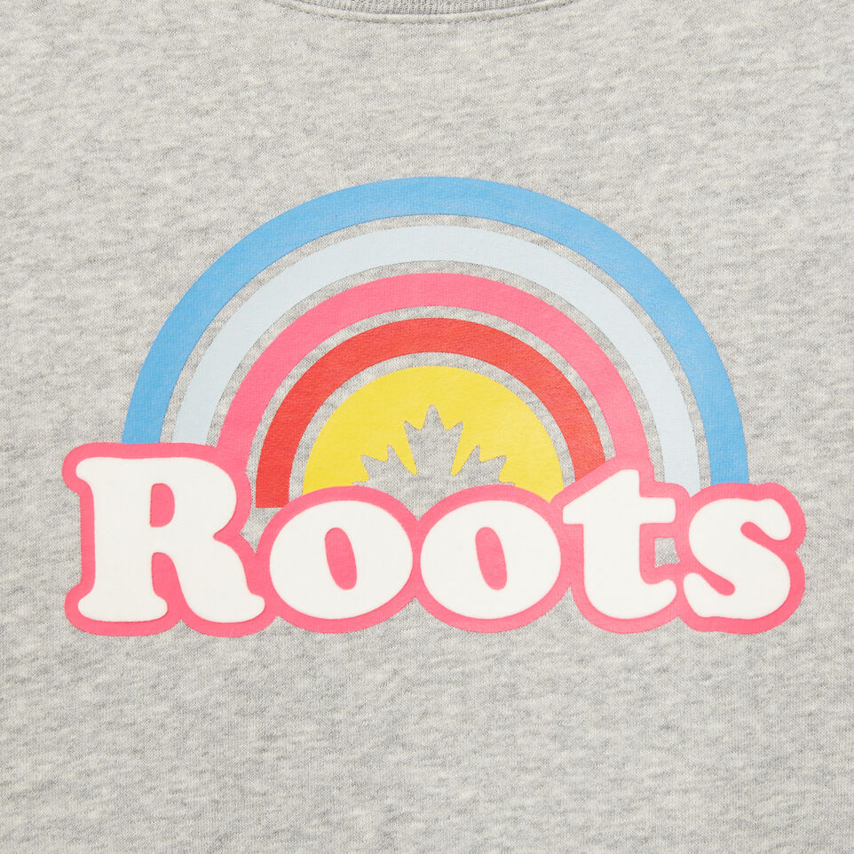 Roots-undefined-Girls Cooper Rainbow Crew-undefined-D