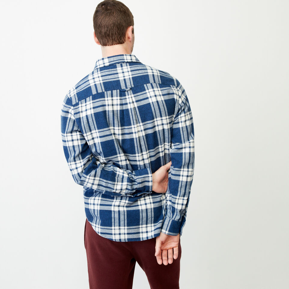 Roots-Men Shirts & Polos-Northlands Flannel Shirt-Active Blue-D