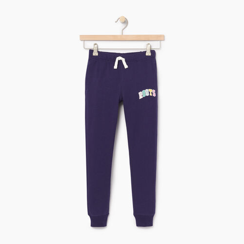 Roots-Kids Categories-Girls Roots Varsity Sweatpant-Eclipse-A