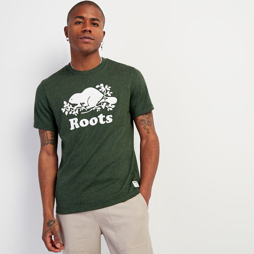 Roots-Men New Arrivals-Mens Cooper Beaver T-shirt-Camp Green Pepper-A