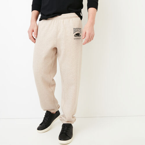 Roots-Men Bestsellers-Classic Relaxed Sweatpant-True Khaki Mix-A