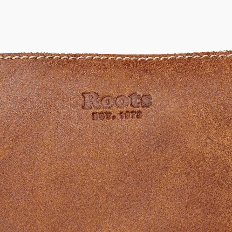 Roots-Women Leather-Festival Bag-Natural-E