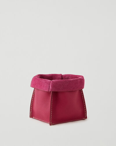 Roots-Leather Leather Accessories-Medium Rollover Basket Parisian-Magenta-A