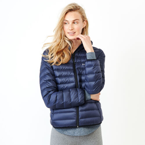 Roots-Women Outerwear-Roots Packable Down Jacket-Navy Blazer-A
