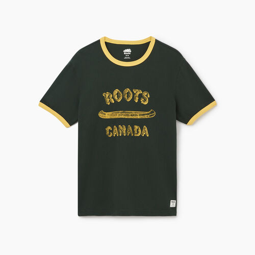 Roots-Men New Arrivals-Mens Roots Canada Canoe T-shirt-Park Green-A