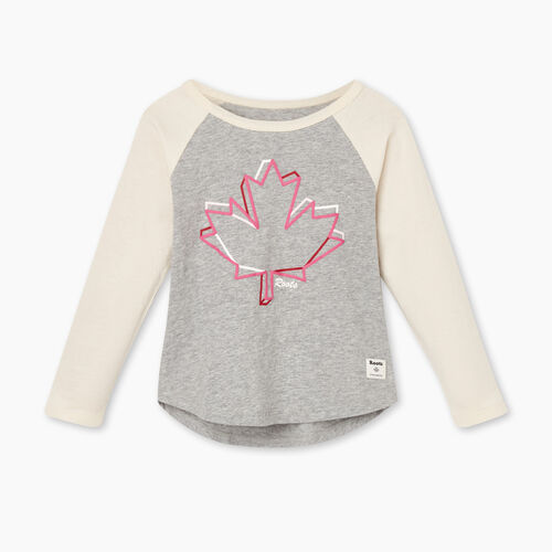 Roots-Kids Toddler Girls-Toddler Canadian Maple T-shirt-Grey Mix-A