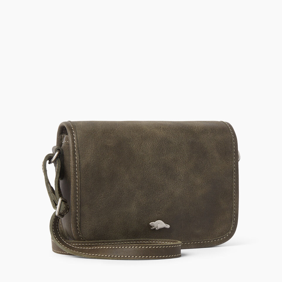 Roots-Leather  Handcrafted By Us Handbags-Angelina Bag Tribe-Pine-A
