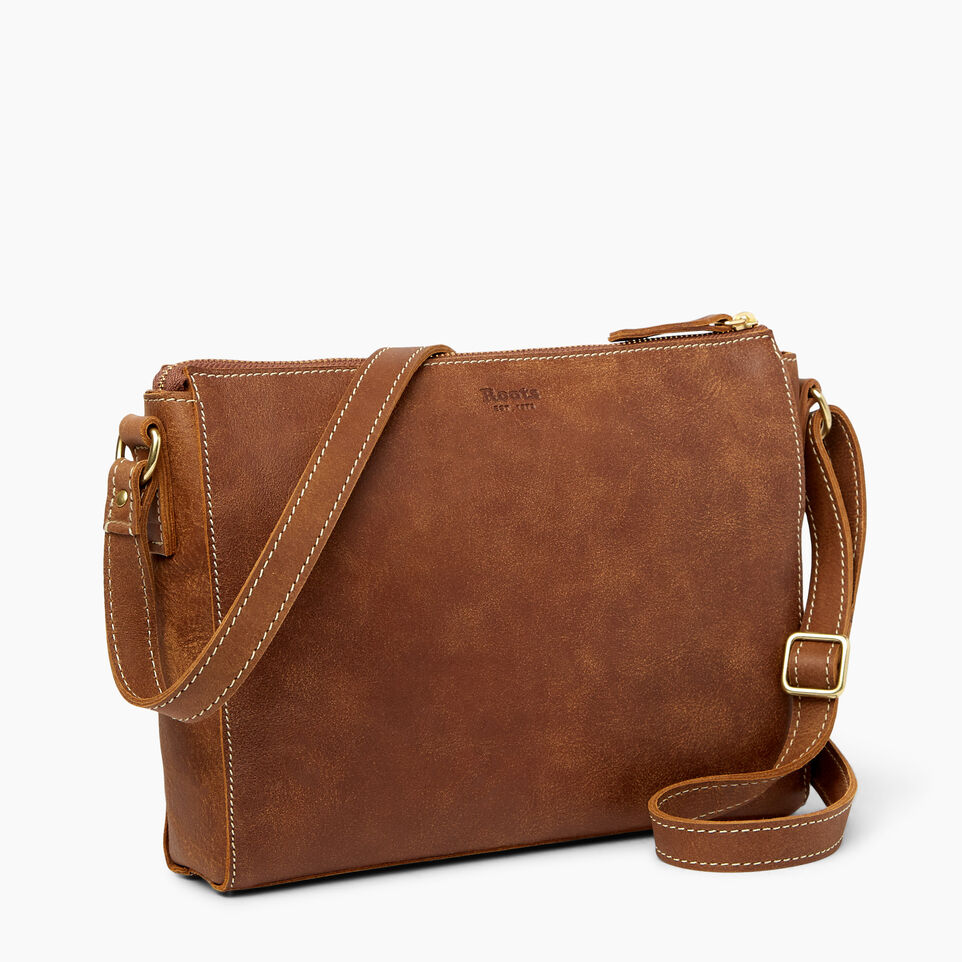 Roots-Leather  Handcrafted By Us Handbags-Robson Bag-Natural-C