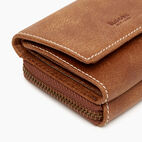 Roots-Women Leather Accessories-Medium Trifold Clutch Tribe-Natural-E