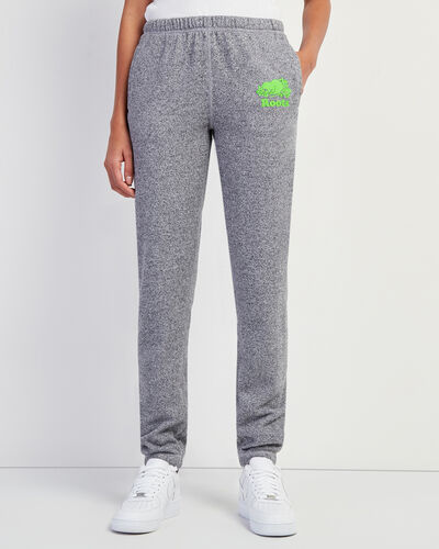 Roots-New For This Month Women-Original Sweatpant Neon Green Logo-Salt & Pepper-A