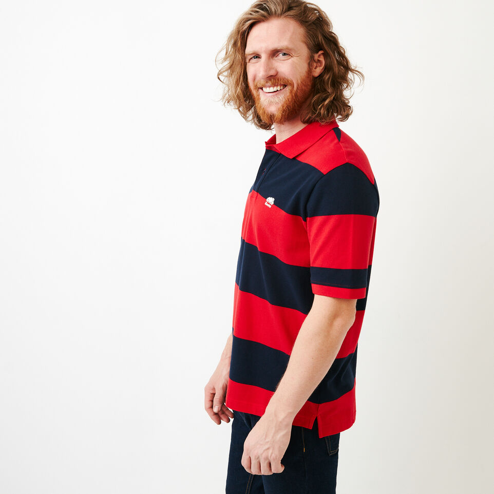 Roots-Men Categories-Heritage Striped Pique Polo-Racing Red-C