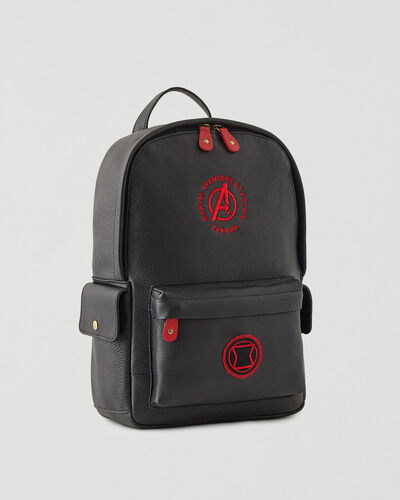 Roots-Leather Backpacks-Avengers Black Widow Central Pack-Black-A