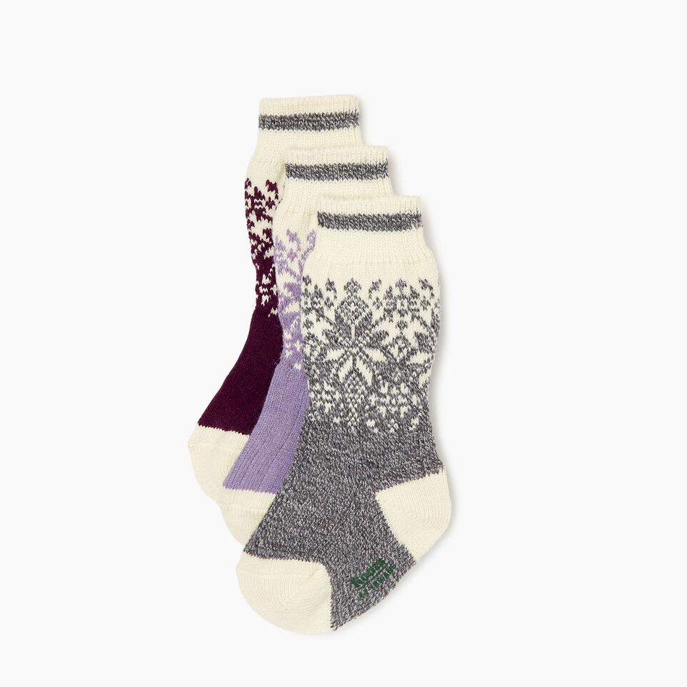 Roots-Kids Girls-Kids Elsa Cabin Sock 3 Pack-Purple-B