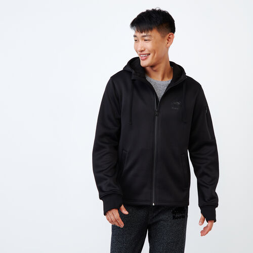 Roots-Men Our Favourite New Arrivals-Logan Bonded Zip Hoody-Black-A