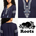 Roots-undefined-Rimby Embroidered Peasant Dress-undefined-F