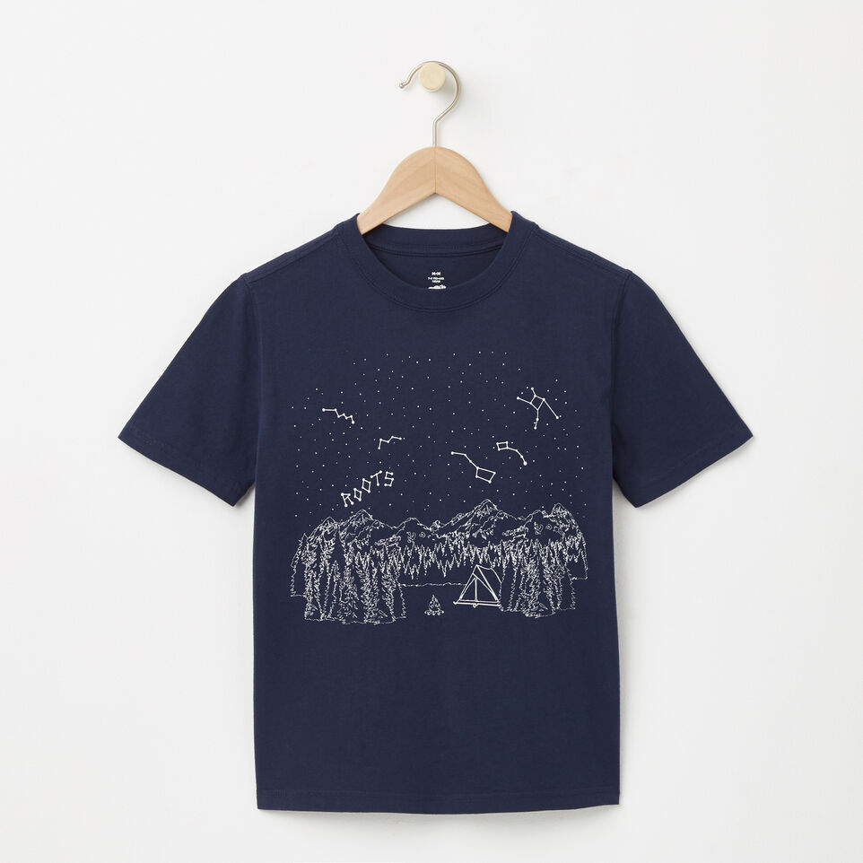 Roots-undefined-Boys Glow In The Dark Camp T-shirt-undefined-A