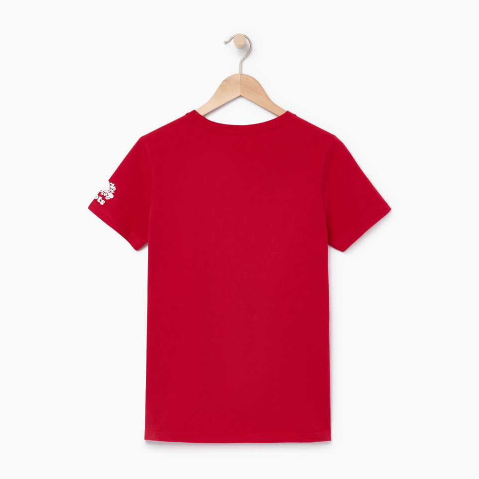 Roots-Women Our Favourite New Arrivals-Womens Blazon T-shirt-Sage Red-B
