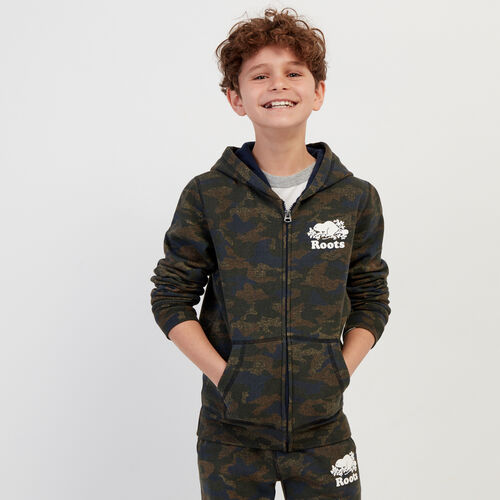 Roots-Kids Our Favourite New Arrivals-Boys Original Full Zip Hoody-Camo Print-A