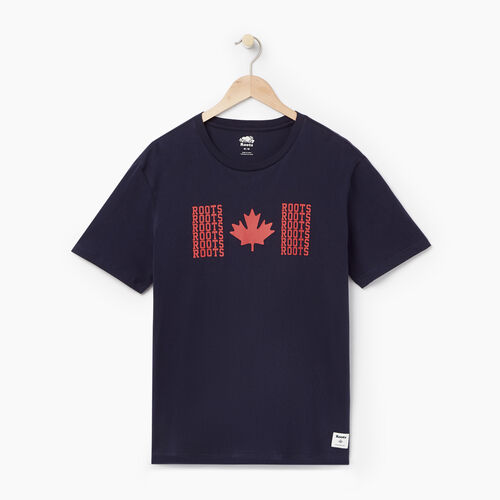 Roots-Men Our Favourite New Arrivals-Mens Roots Flag T-shirt-Navy Blazer-A