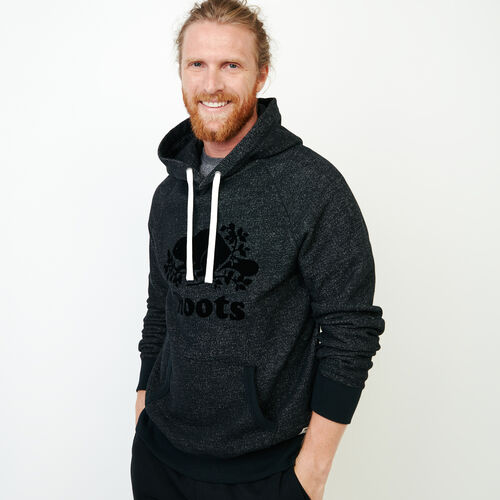 Roots-Men Sweats-Original Kanga Hoody-Black Pepper-A