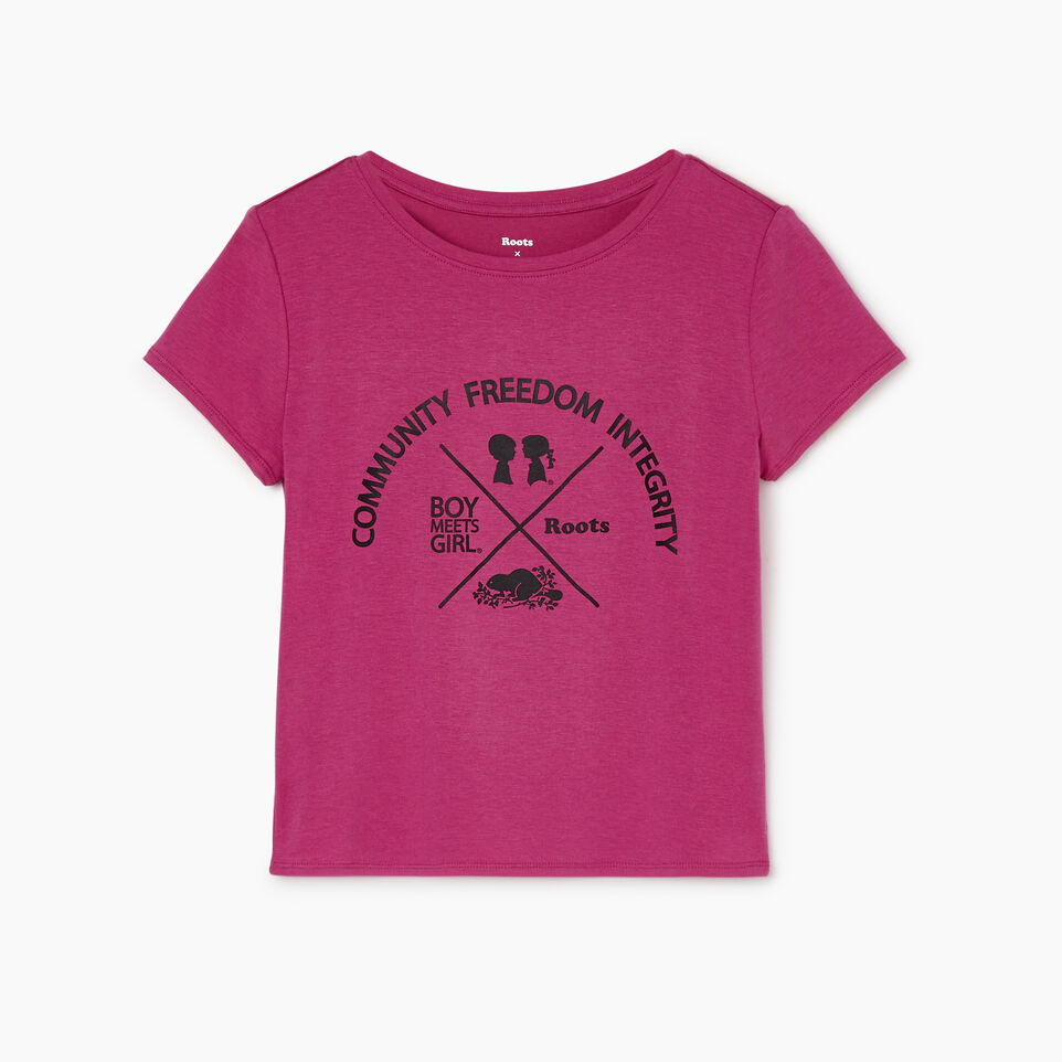 Roots-undefined-Roots x Boy Meets Girl - Girls Relaxed Fit CFI T-shirt-undefined-A