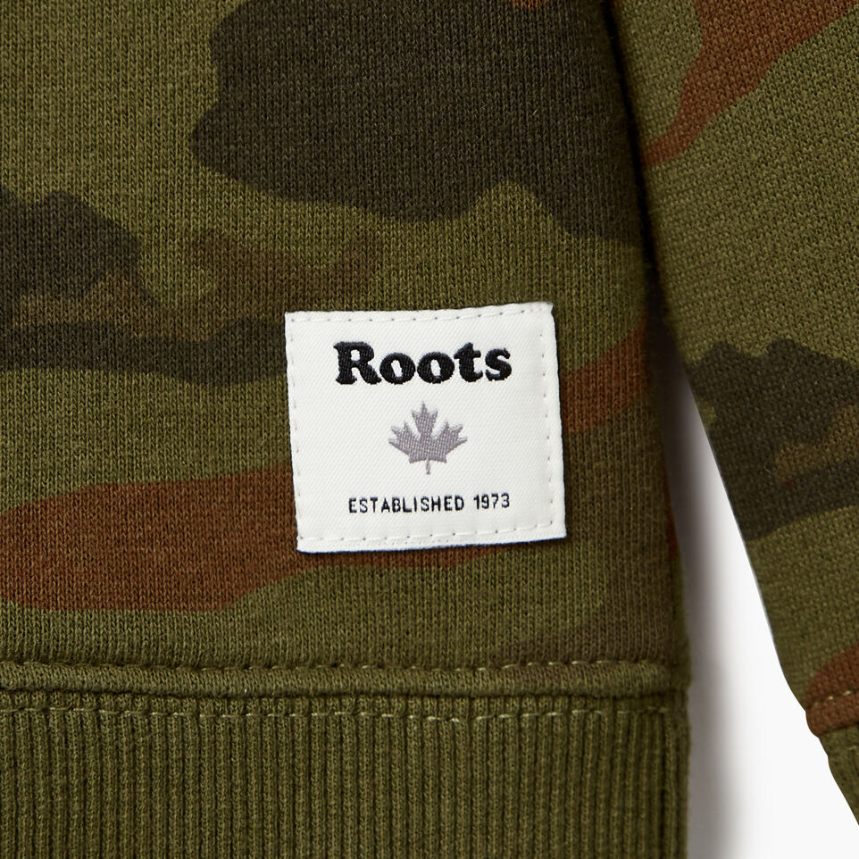 Roots-Kids Our Favourite New Arrivals-Boys Camo Sweatshirt-Winter Moss Green-C