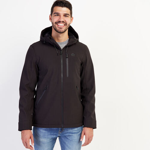 Roots-Men Outerwear-Mountaineer Softshell Jacket-Black-A