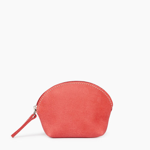 Roots-Leather New Arrivals-Small Euro Pouch-Coral-A