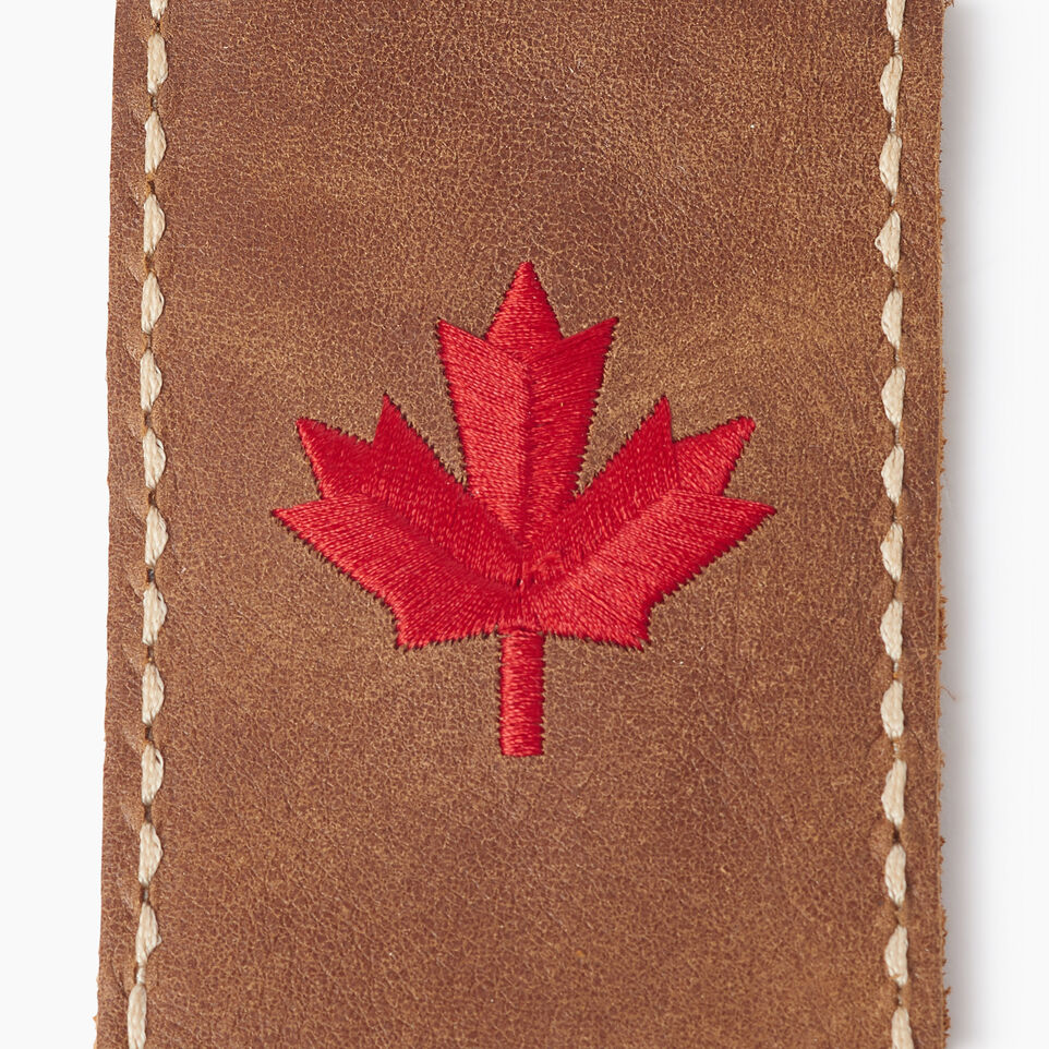 Roots-Leather Canada Collection By Roots™-Maple Leaf Luggage Tag-Natural-C