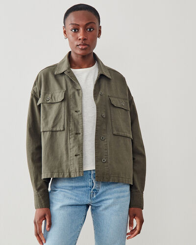 Roots-Women Jackets & Outerwear-Greenbud Jacket-Fatigue-A