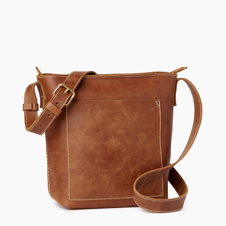 Roots-Leather Handbags-Rideau Crossbody-Natural-A