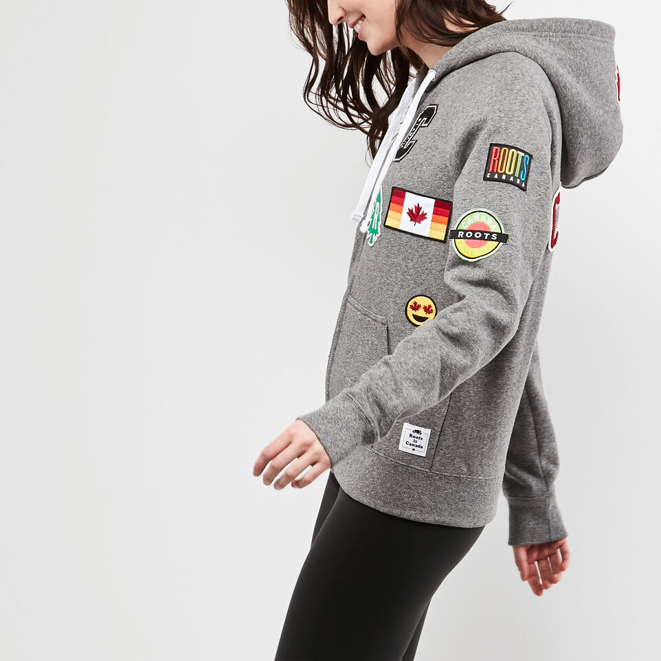 Roots-undefined-Womens Patches Original Full Zip Hoody-undefined-C