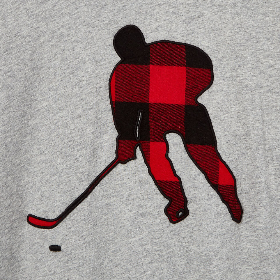 Roots-undefined-Mens Plaid Hockey Long Sleeve  T-shirt-undefined-D