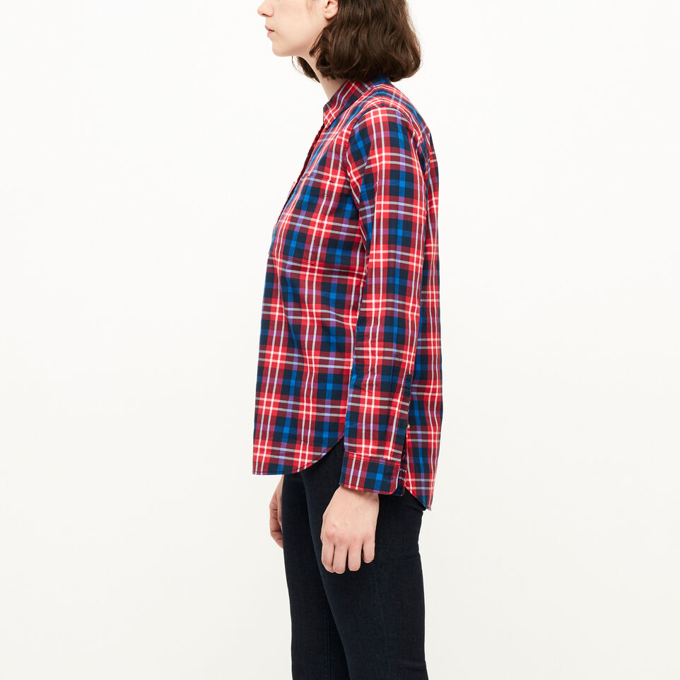 Roots-Clearance Women-Brookside Poplin Shirt-Lollipop-C