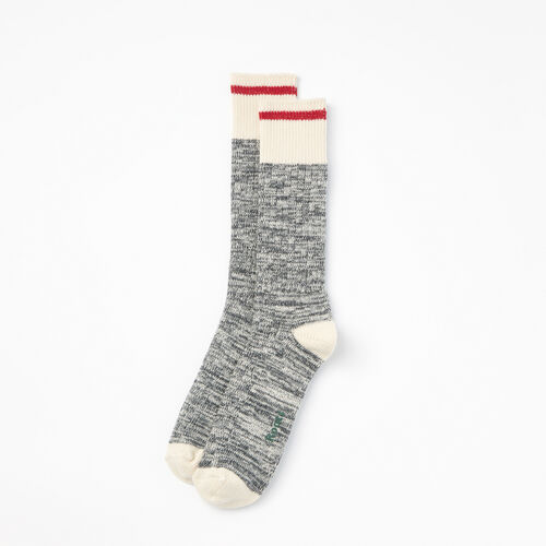 Roots-Men Socks-Mens Cotton Cabin Sock 2 Pack-Salt & Pepper-A